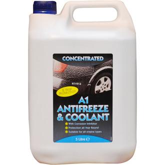 A1 Motorstores Blue 5l Antifreeze & Coolant
